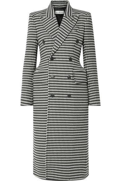 Καρό παλτό με έντονη μέση-Balencianga