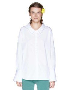 Λευκό oversized πουκάμισο- από 39,95, 27,97-Benetton